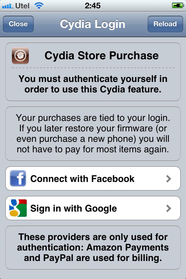 Покупка твиков в Cydia