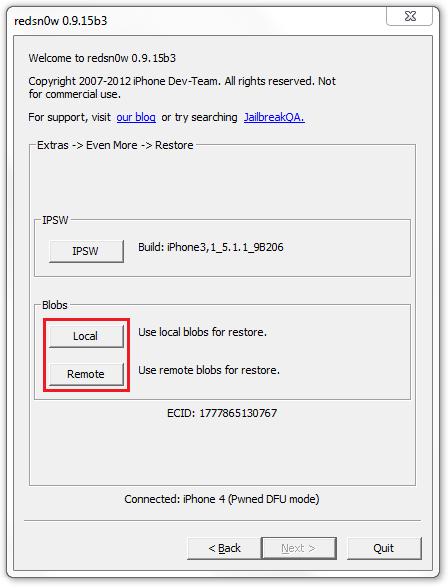 Откат с iOS 6.0-6.1.3 на iOS 5.0-6.1.2 (кроме iPhone 4S, iPad 3 и новее)