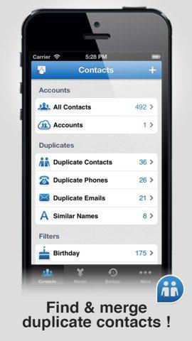Smart Merge - избавьтесь от дубликатов в списке контактов