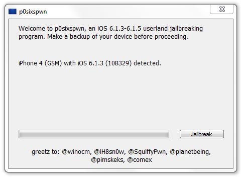 Отвязанный джейлбрейк iOS 6.1.3/6.1.4/6.1.5 для всех устройств
