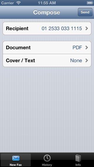 Как отправлять и получать факсы с помощью iPhone?