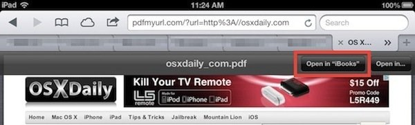 Как сохранить веб-страницу в формате PDF на iPhone и iPad?