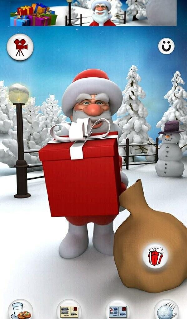 Истинно новогоднее приложение «Говорящий Санта»