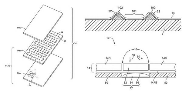 Apple получила патент на гибкий дисплей с тактильной обратной связью