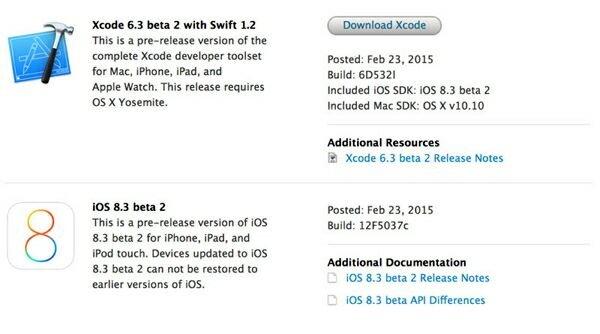 Вышла iOS 8.3 beta 2, предназначенная для айфон и айпад