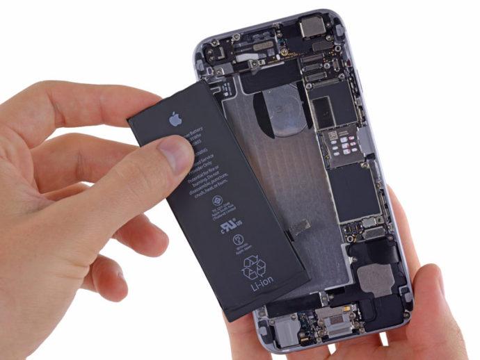 Айфон и изношенная батарея