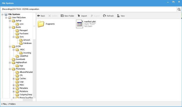 Доступ к файлам iPhone по iTools