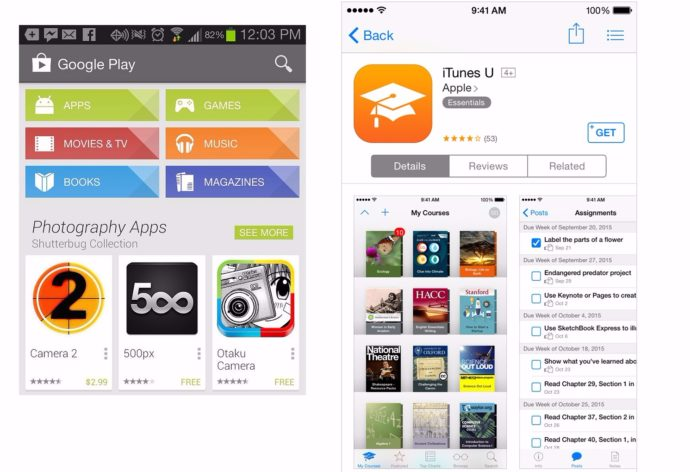 Google Play и AppStore