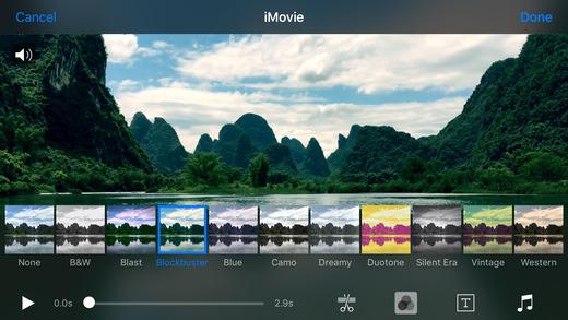 Интерфейс приложения iMovie