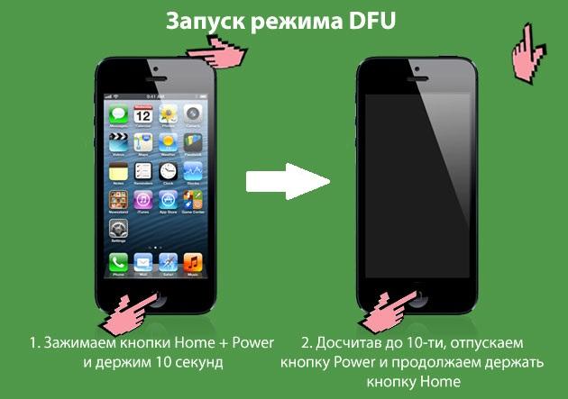 Использование DFU режима