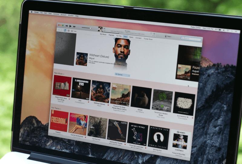 iTunes на ноутбуке