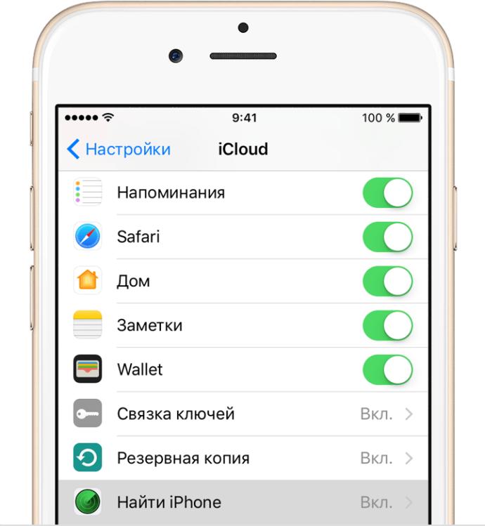 Опции резервного копирования в iCloud
