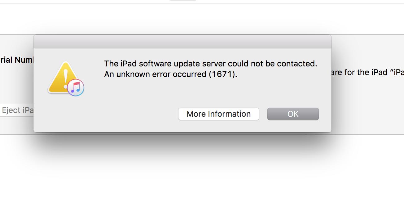 ошибка 1671