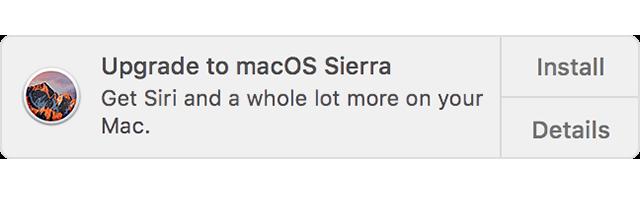 Уведомление MacOS о готовности к обновлению