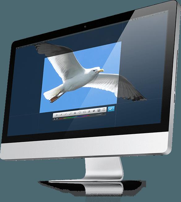 Выделение области экрана для снятия скриншота в Joxi