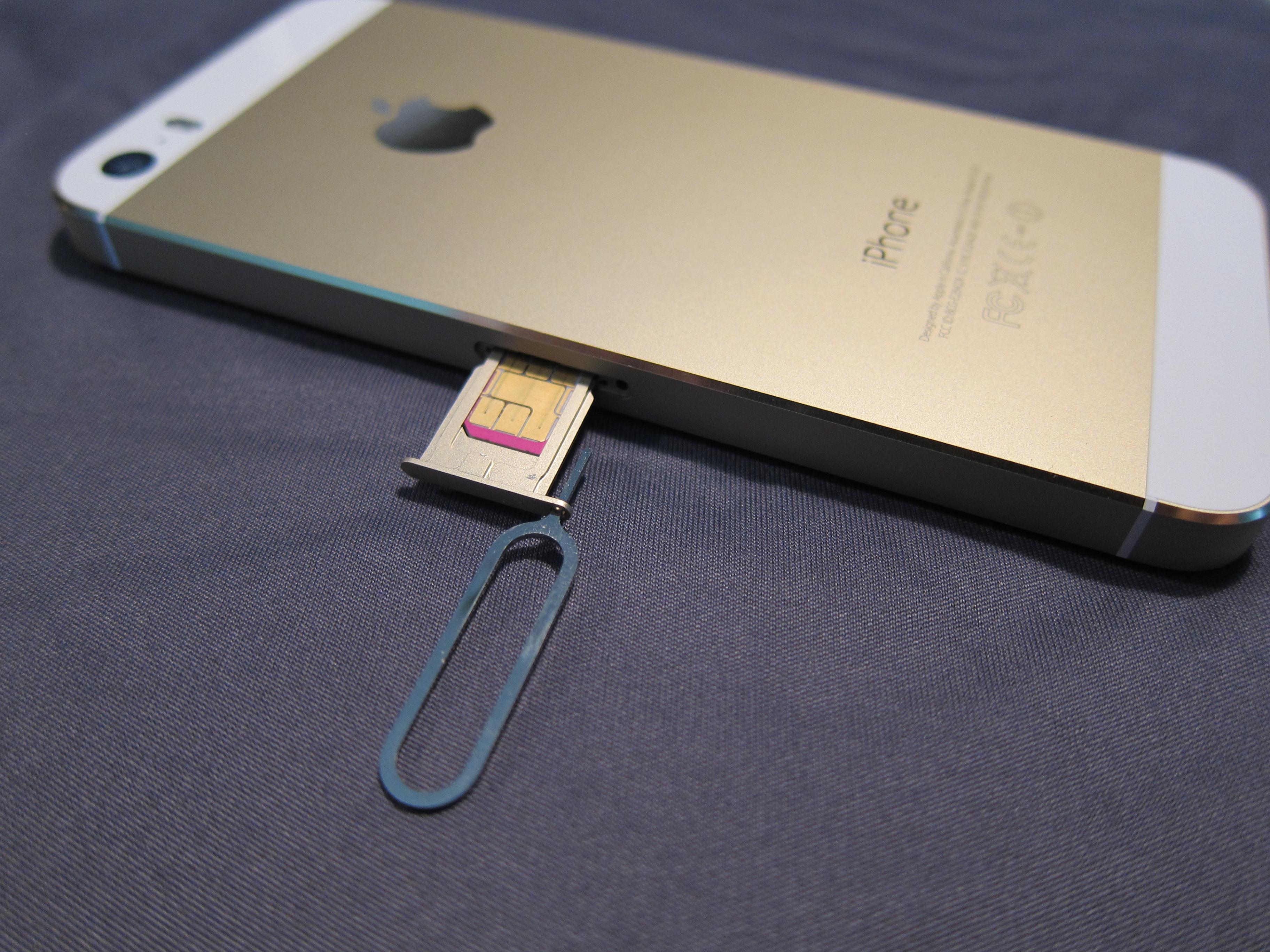 Как вставить или вытащить симку в iPhone