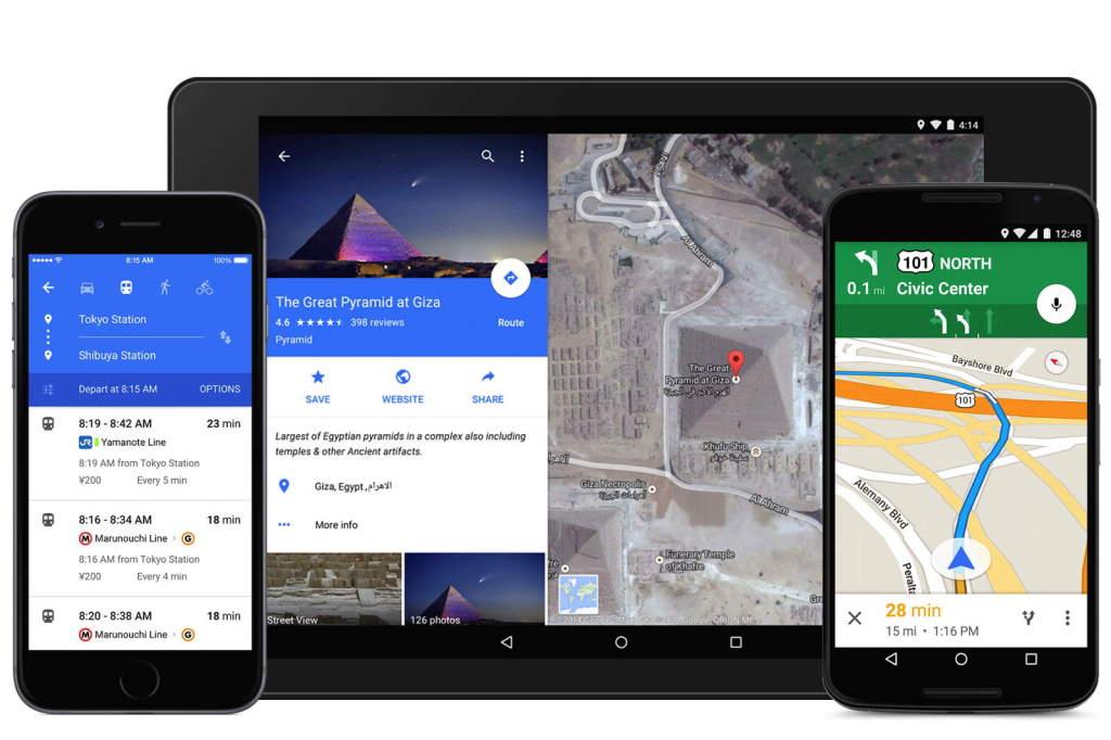 Вышел обновленный Google Maps